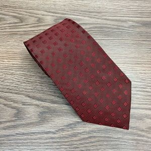 Dunhill Maroon w/ Red & Black Check Tie
